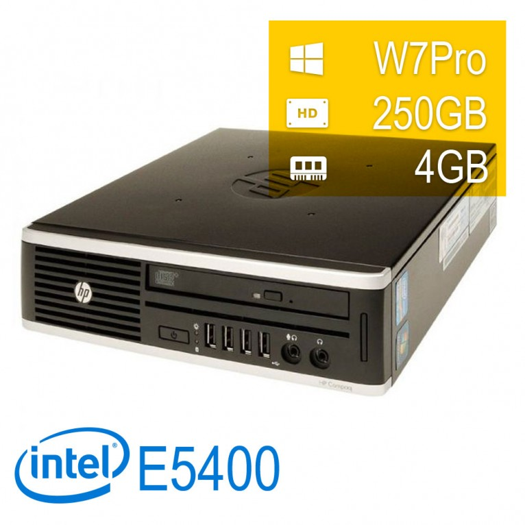 Hp 8000 Elite USDT - E5400/4/250/DVD/W7P/1Y