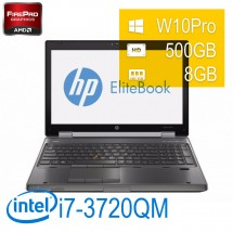 HP Elitebook 8570W - i7-3720QM/8/500/AMDM4000/DVD/15,6/W10P/1Y