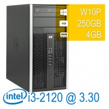 Hp 6200 Pro Micro Tower - i3-2100/4/250/DVD/W7P/1Y