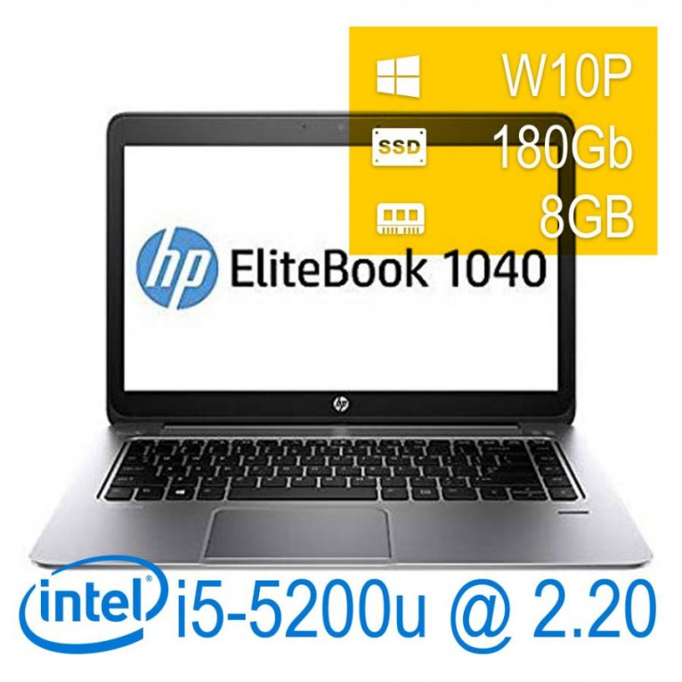 Hp Elitebook Folio 1040 G2 - I5-5200U/8/180SSD/14/W10PUPD/1Y