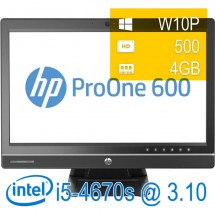 Hp Pro One 600 G1 AIO - i5-4670s/4/500/DVD/21,5/W10PUPD/1Y