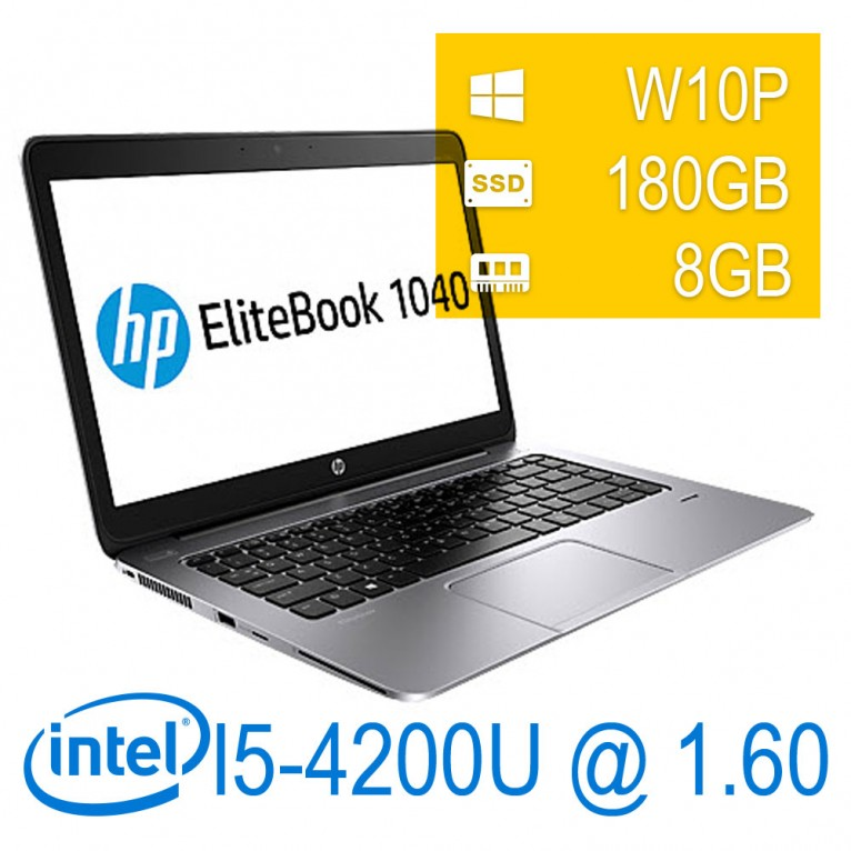 Hp Elitebook Folio 1040m - I5-4200/8/180SSD/14/W10PMAR/1Y