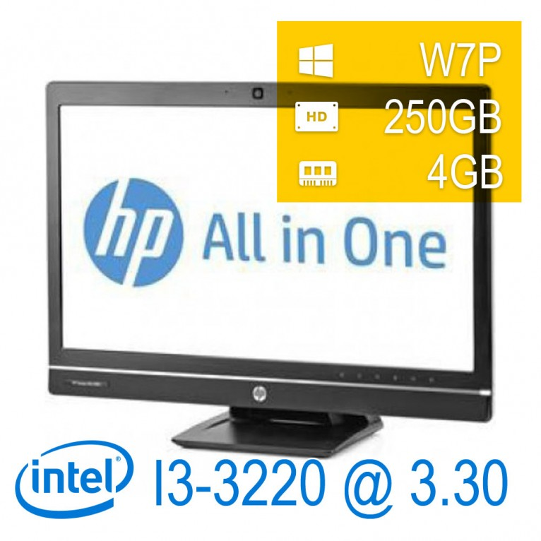 Hp 6300 Elite AIO - i3-3220/4/250/21,5/W7P/1Y