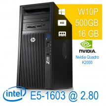 Hp Z420 Workstation - E5-1603/16/500/K2000/W10PUPD/1Y