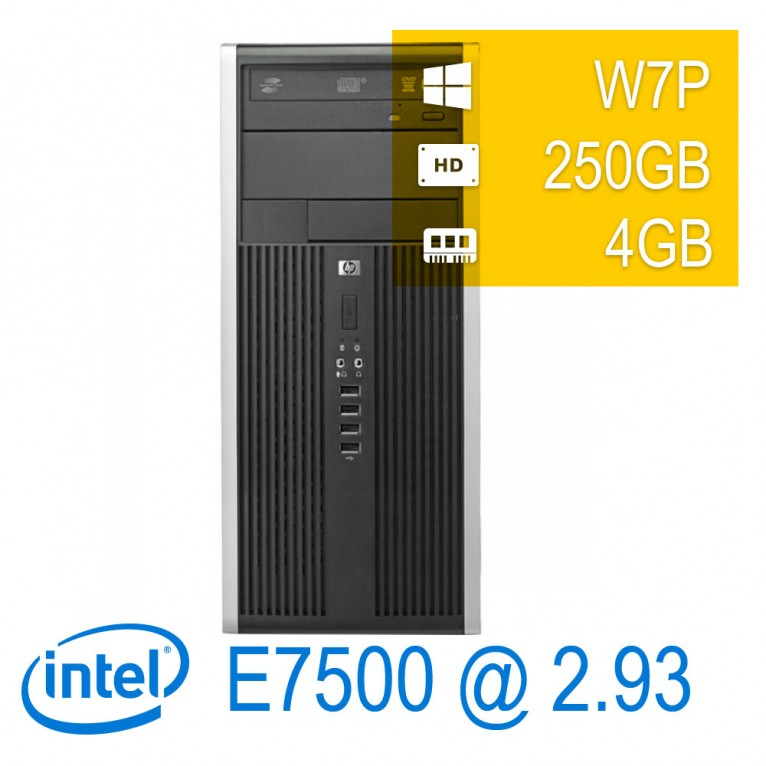 Hp 6000 Pro MidiTower - E7500/4/250/DVD/W7P/1Y
