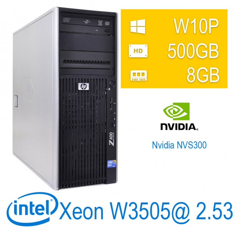 HP Hp Z400 Workstation - Xeon W3505/8/500/NVS300/W10PUPD/1Y