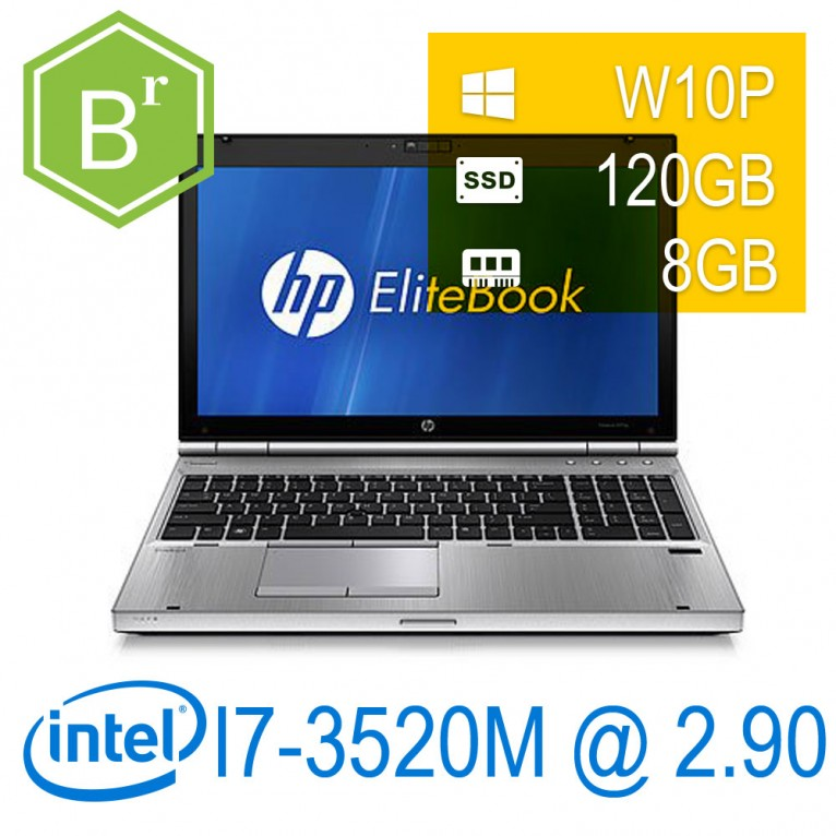 Hp Elitebook 8570P I7-3520M/4GB/128SSD/DVD/UPDW10P/1Y