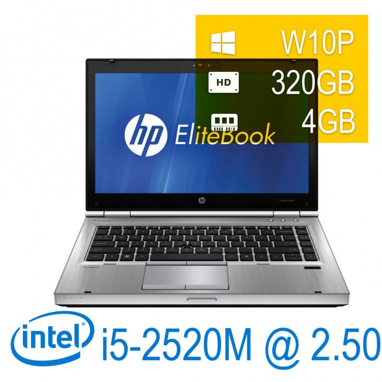 HP Elitebook 8460P - i5-2520M/4/320/14/DVD+RW/W10PUPD/1Y