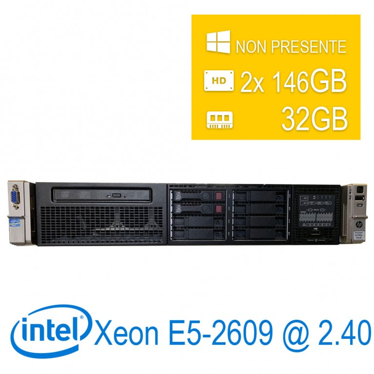 Server HP Proliant DL380 G8 2U Intel Xeon E5-2609/32/2x146GB/DVD/1Y