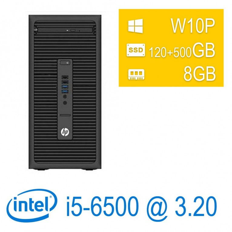 HP ProDesk 600 G2 Micro Tower I5-6500/8/SSD120+500GB/DVD-RW/W10P/1Y