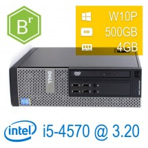 refurB - Dell Optiplex 9020 I5-4570/4/500/DVD-RW/W10PUPD/1Y