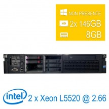Server HP Proliant DL380 G6 2U 2 x Intel Xeon L5520/8/2x146GB/DVD/1Y