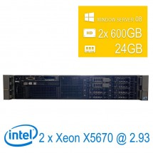 Server Dell Poweredge R710 2U 2 x Intel Xeon X5670/24/2x600GB/DVD-RW/WS08/1Y