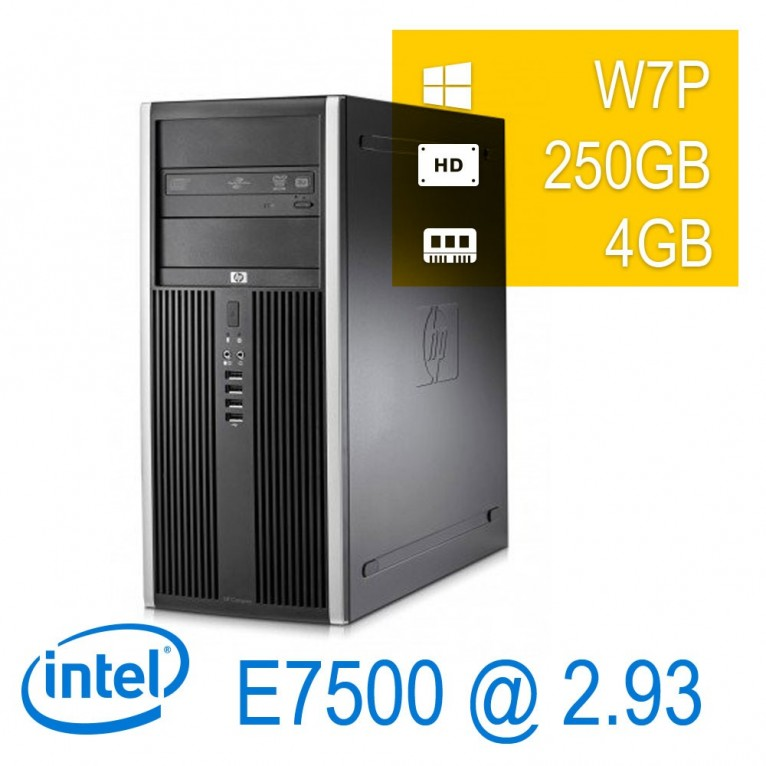 Hp 8000 Pro Micro Tower - E7500/4/250/DVD/W7P/1Y