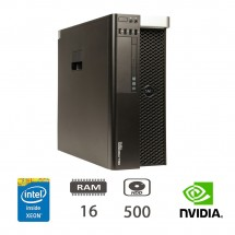 HP Dell Precision T3610 Workstation - E5-1620v2/16/500/ K2000/DVD/W10PUPD/1Y
