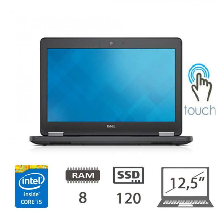 Dell Latitude E5250 TOUCHSCREEN I5-5300U/8/SSD120/W10Pro/1Y