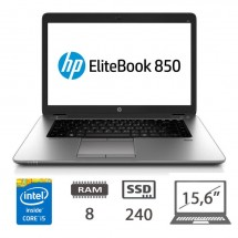 Hp Elitebook 850 G2 I5-5300U/8/240SSD/W10PUPD/1Y