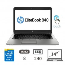 Hp Elitebook 840 G2 TouchScreen I5-5200U/8/SSD240/14/W10P/1Y
