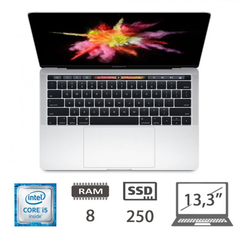 Apple Macbook Pro Retina 13,3 Touch Bar (M2018) - i5-@2.9Ghz/8/250SSD/iris HD550/MOJAVE/Silver