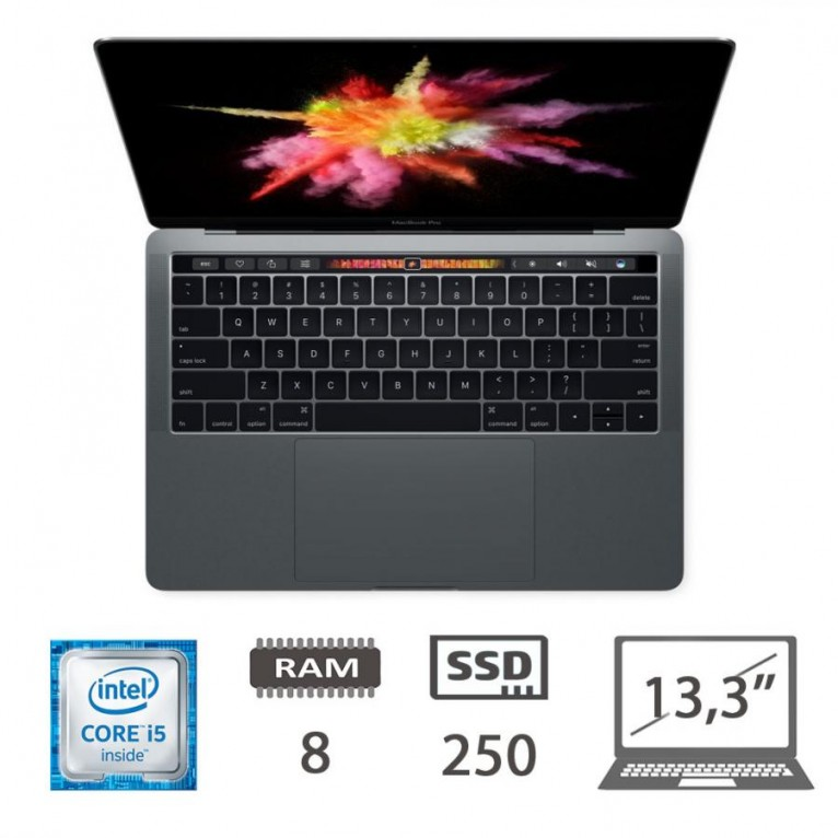 Apple Macbook Pro 13,3 Touch Bar (2016) - i5-@ 2,90Ghz /8/250SSD/MOJAVE