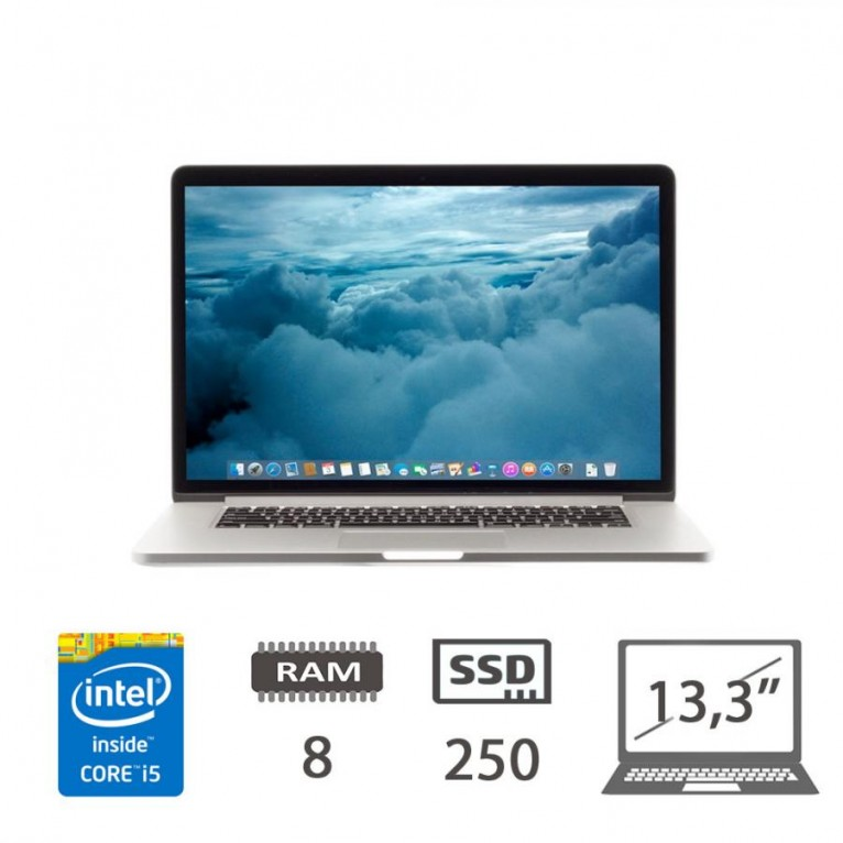 Apple Macbook Pro Retina 13.3 (E15) - i5 @2,7Ghz/8/SSD250/iris6100/Mojave