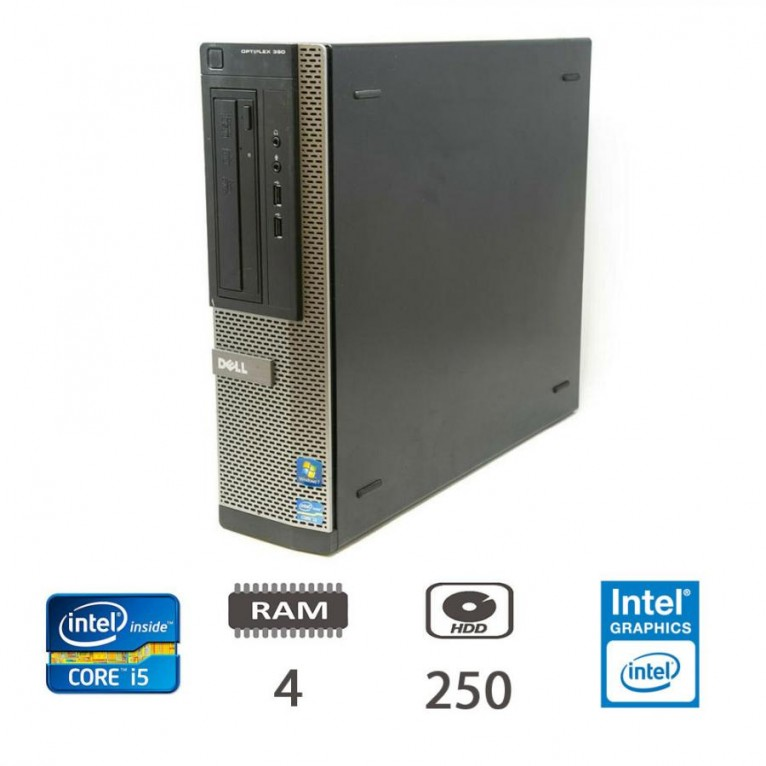 Dell Optiplex 390 DT I5-2400/4/250/W10ProUPD/1Y