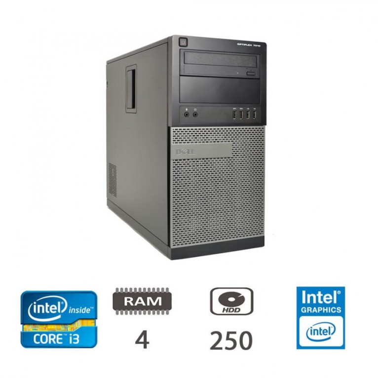 Dell Optiplex 7010 MT - I3-3220/4/250/W10PUPD/1Y