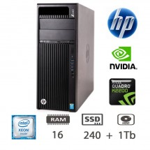 Hp Z440 Workstation - E5-1620v3/16/SSD240+1Tb/W10PUPD/1Y