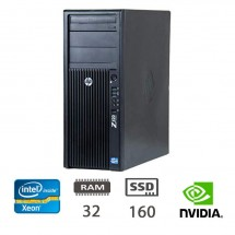 Hp Z420 Workstation - E5-1620/32/SSD160/Q2000/W10PUPD/1Y