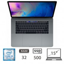 Apple Macbook Pro 15 Touch Bar (2018)- i9-8950HK/32/512SSD/MOJAVE/GRIGIO SIDERALE