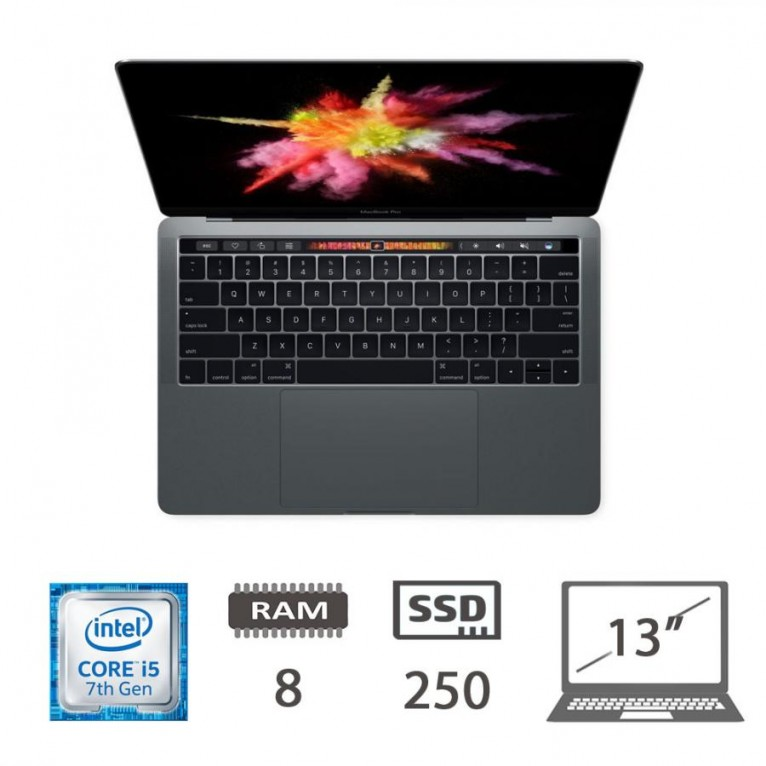 Apple Macbook Pro 13,3 Touch Bar (2017) i5-@3.1Ghz/8/250SSD/iris650/MOJAVE/Space Gray