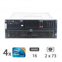 HP Proliant DL580 Gen.5 4U - 4 x Xeon X7460/16/2x73/1Y