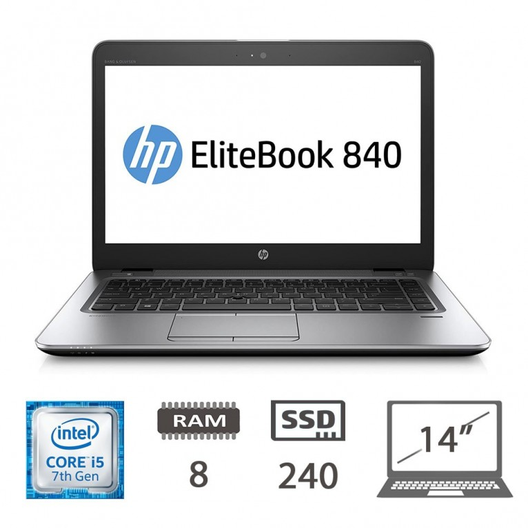 Hp Elitebook 840 G4 - I5-7300U/8/M2-sata240/14/W10P/1Y