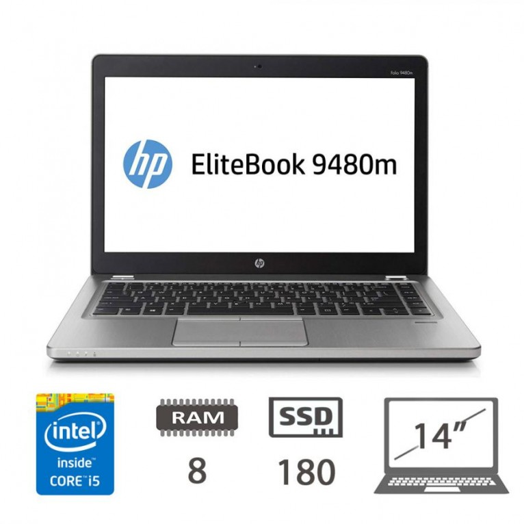 Hp Elitebook Folio 9480m - I5-4310U/8/180SSD/14/W10PMAR/1Y