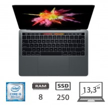Apple Macbook Pro 13.3 (2018) con Touch Bar - i5-@2,3Ghz/8/SSD250/IntelPlusGraphic655/MacOS/Space GrayCon lievi segni di usura
