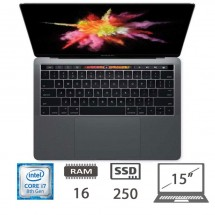 Apple Macbook Pro 15,4 (2018) TouchBar - i7-8750H@ 2,20Ghz /16/250SSD/IntelUHDGraphic630/MacOs/RP555X/Space Gray - Tasto A Scolo